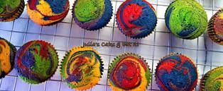 Naked rainbow cupcakes