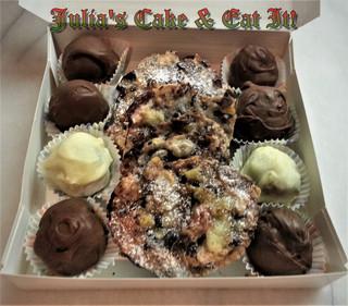 Chocolate truffles & giant florentines