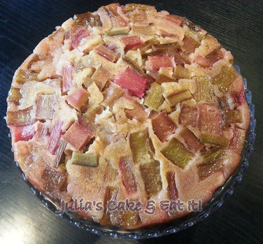 Rhubarb & Pink Peppercorn Upside Down Cake