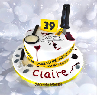 CSI/Crime Scene cake