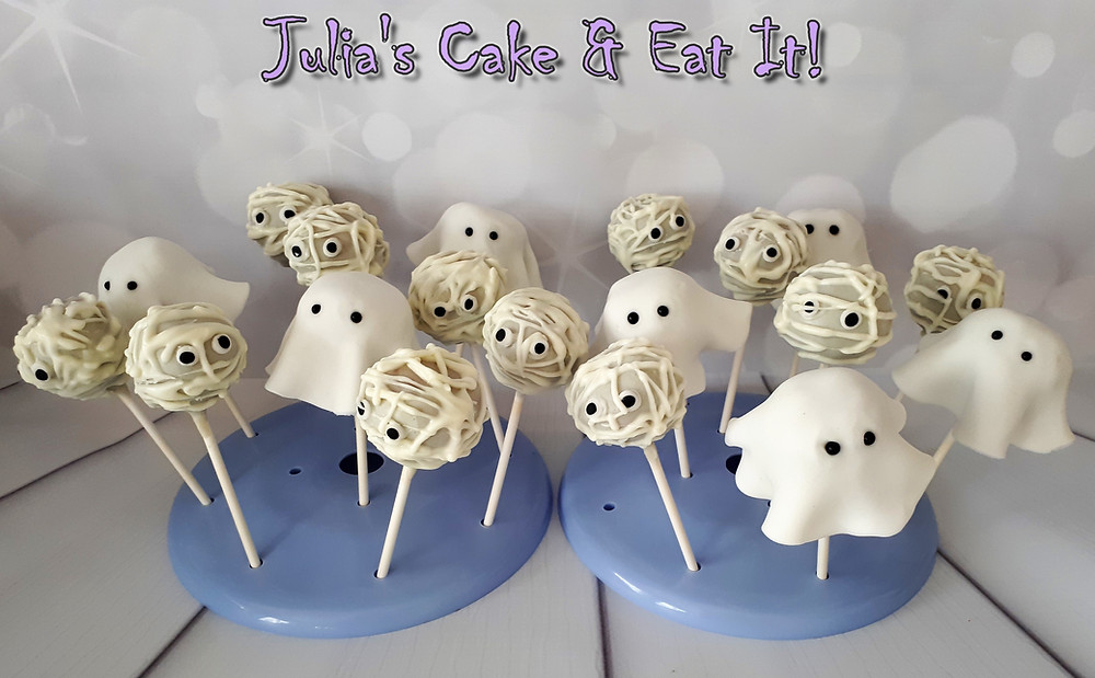Ghost and Mummy cake pops