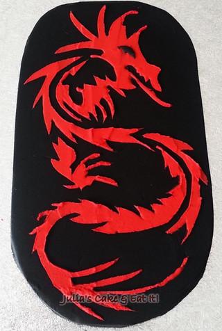 Royal Iced Dragon Stencil