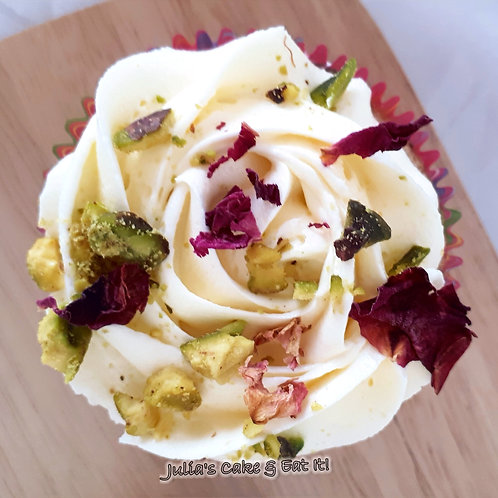 Rose & Pistachio Cupcakes - Box of 12