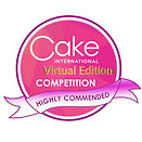 Cake International Virtual Competition Highly Commended