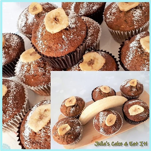 Banana & Walnut Muffins - Box of 12
