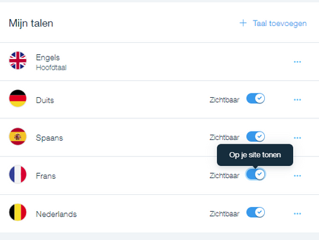 Multilanguage site