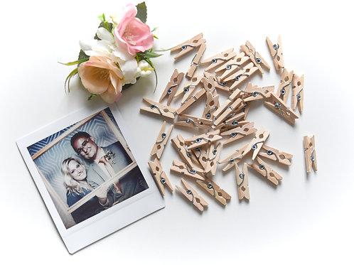 Mini dřevěné kolíčky k uchycení fotografií
