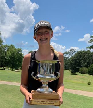 Girls B 13-15 Hannah Grace Hinckley (1st) — at Natchez Golf Club.