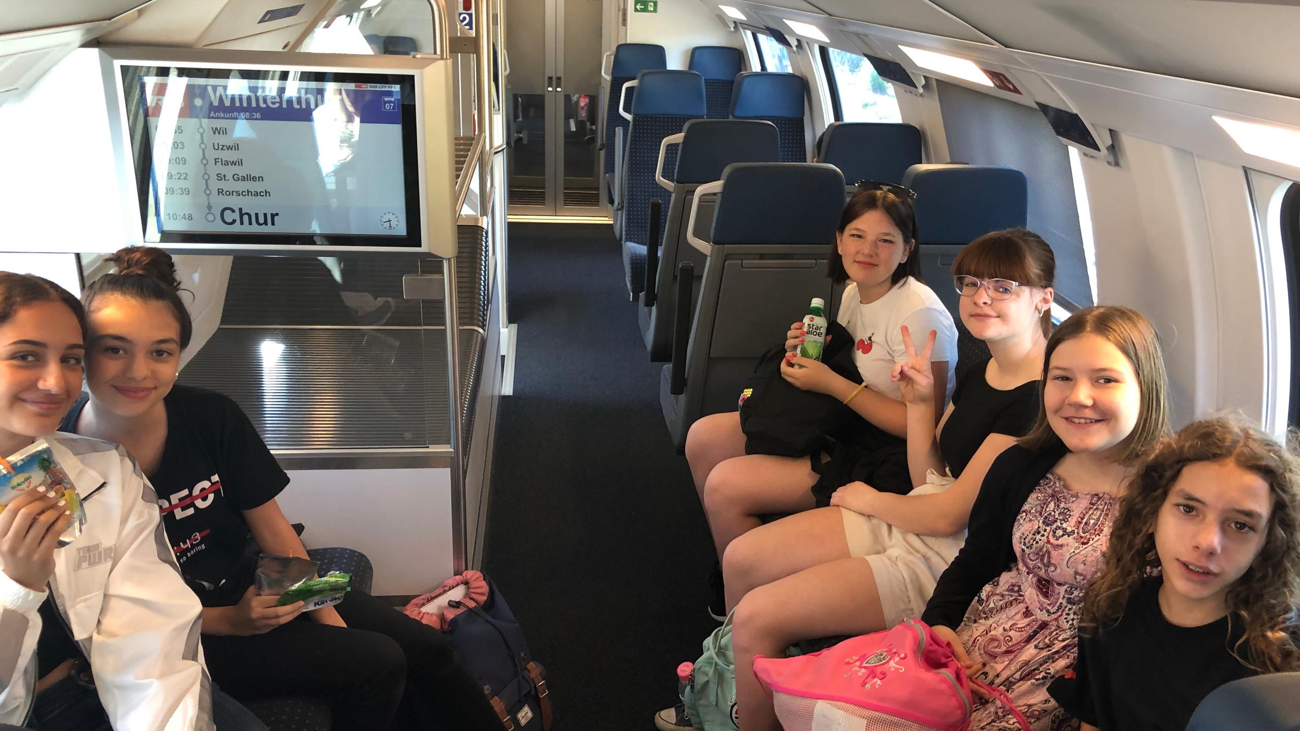 Zugfahrt nach St. Gallen