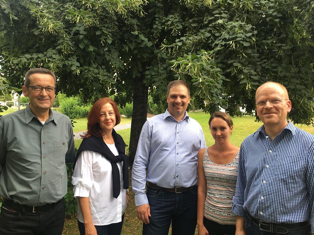 Von li nach re: Urs Gabriel, Heike Krauss, Patrick Schoch, Angela Lienhard und Ulrich Schmid