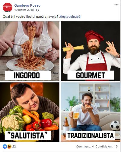 Gambero Rosso su Facebook per la festa del papà 2018