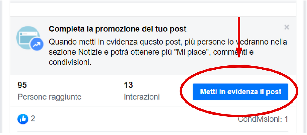 Come sponsorizzare un post su Facebook