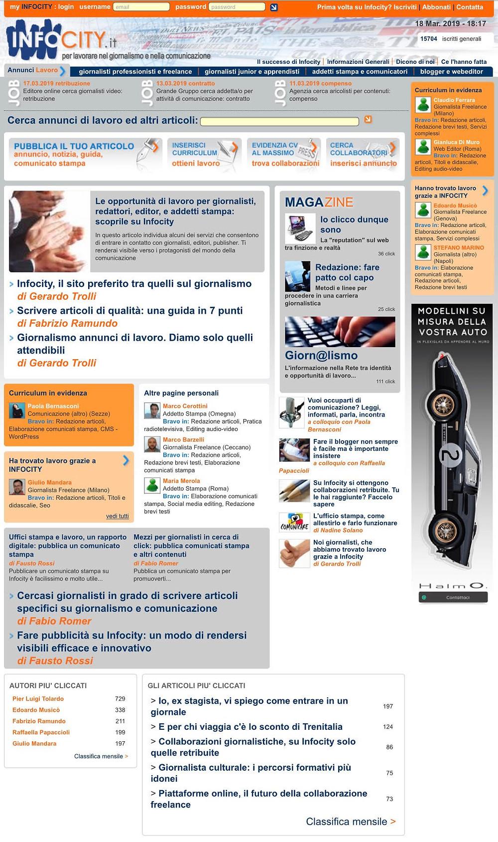 Il portale Infocity.it