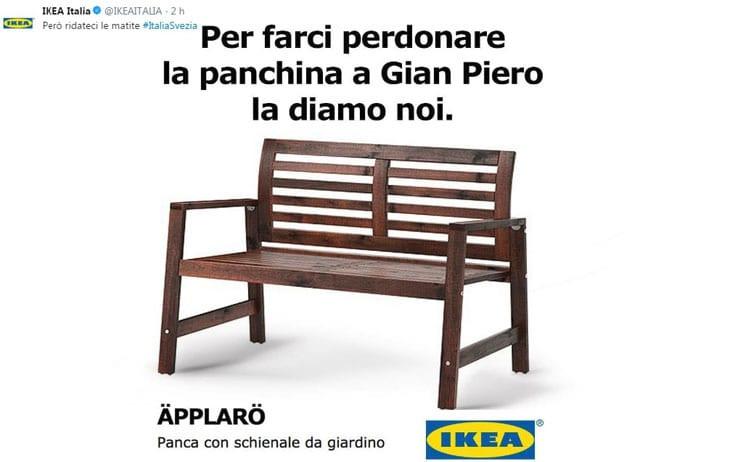 La Nazionale italiana di calcio non entra ai mondiali e l'Ikea regala la sua panchina