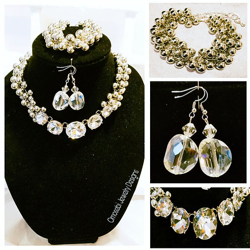 """Chrisette"" 2pc Necklace and Earring Set"