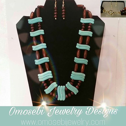 Double Layer Necklace & Earring Set