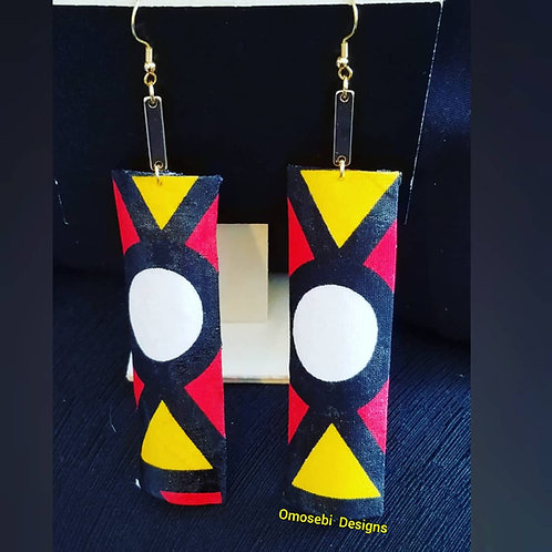 AFRIK Geometric Fabric Earrings