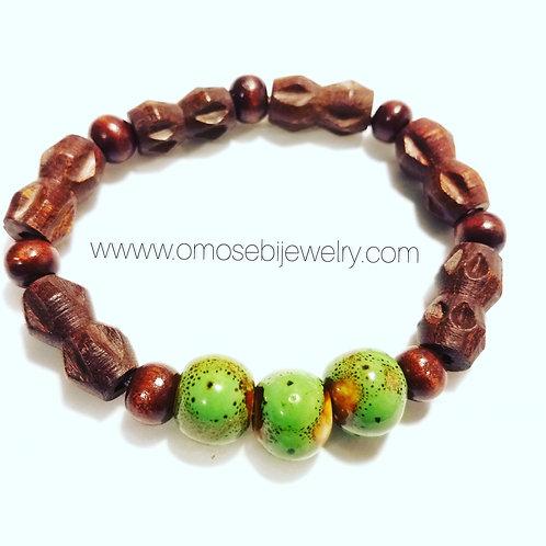 3 Bead Men's Bracelet