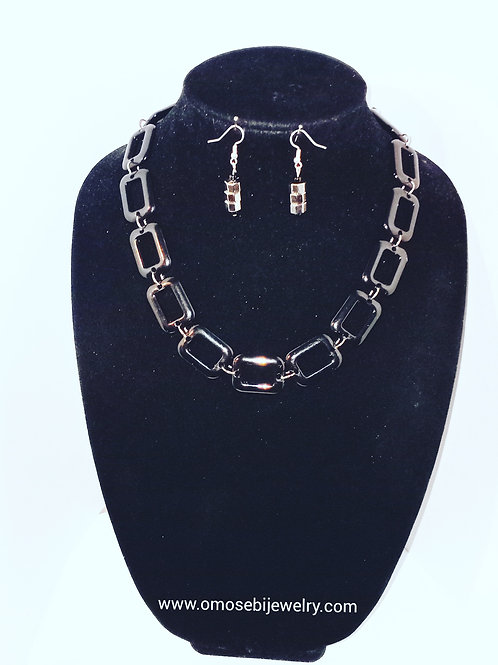 """Lucille"" Vintage Yet Classy Necklace & Earring Set"