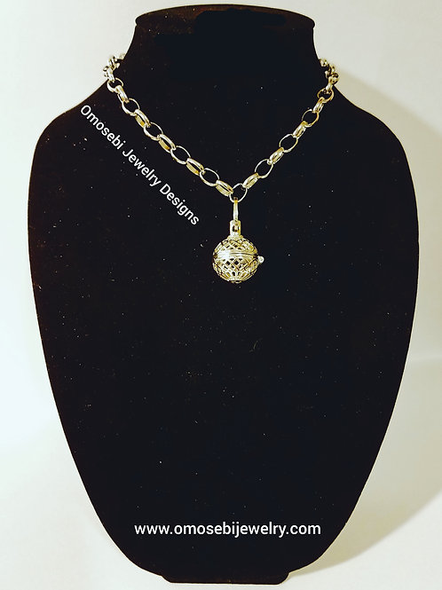 Ball & Chain Locket Necklace