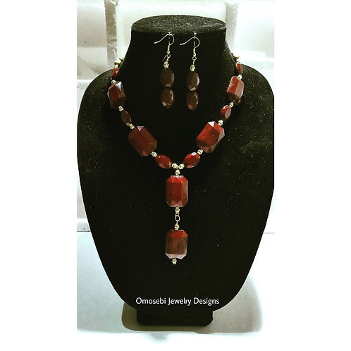 """Lissa"" 2PC Necklace and Earring Set"