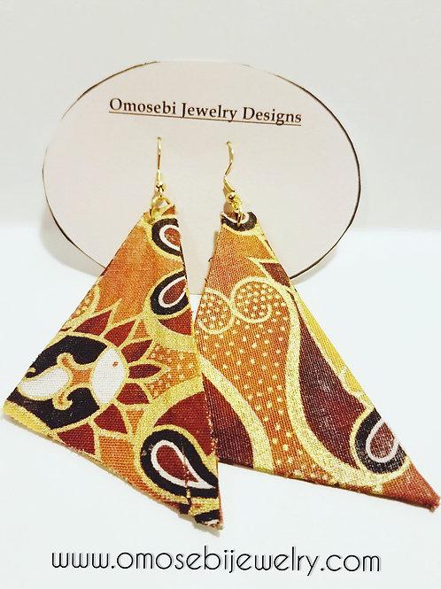 Ethnic Inspired Fabric Earrings