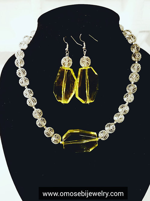 """Maize"" Necklace & Earring Set"