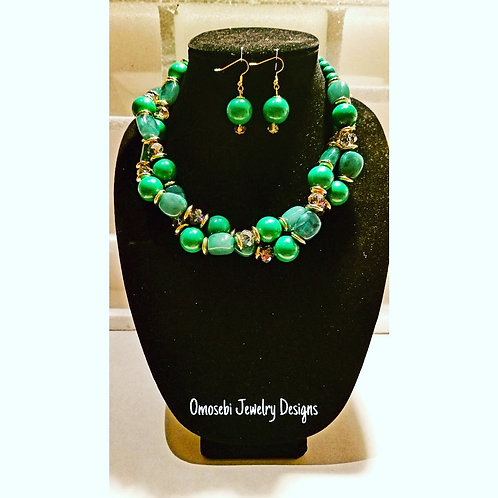 """Monae"" 2pc Necklace and Earring Set"