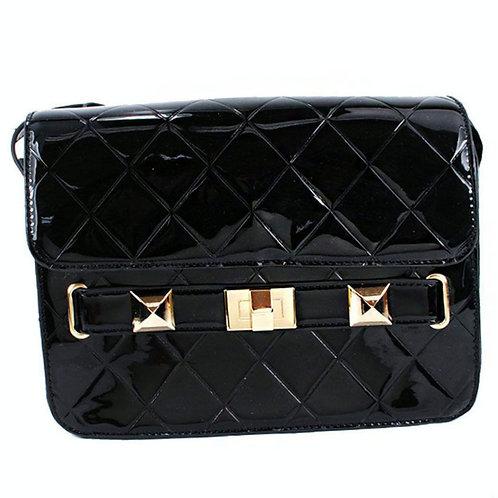 Black Patent Leather Crossbag