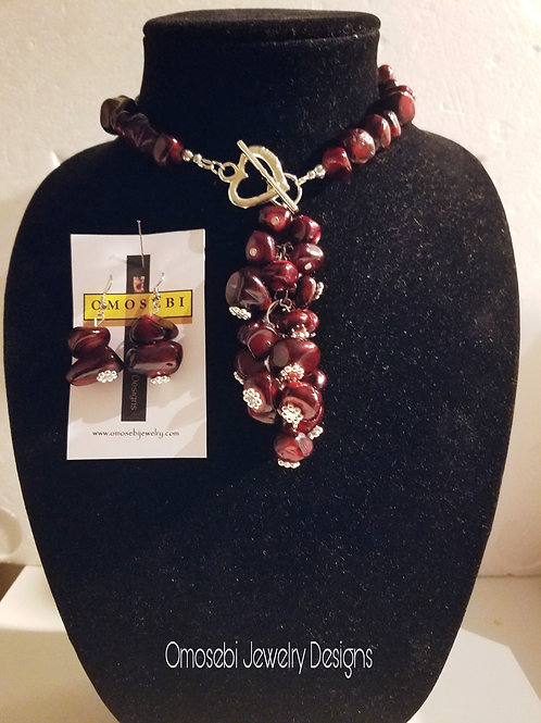 Quartzite Nugget Necklace & Earring Set