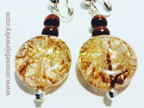 Gold Drizzle Acrylic Earrings