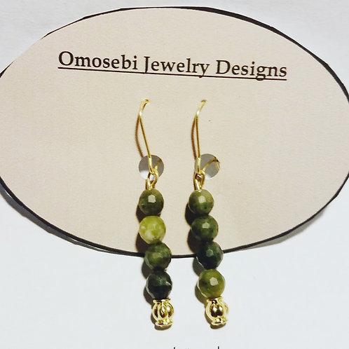 Moss Green Jasper Earrings