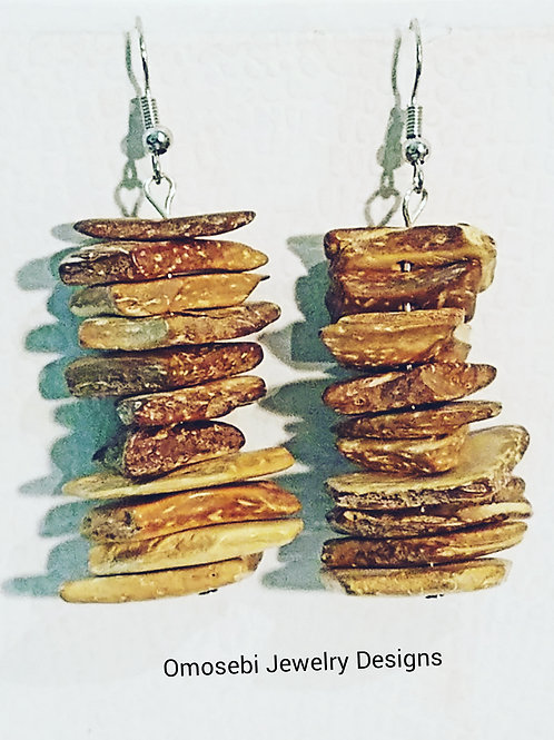 Wood Chip Earrings