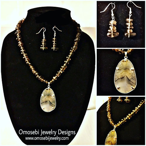 """""""Stormy"""" Necklace & Earring Set"""