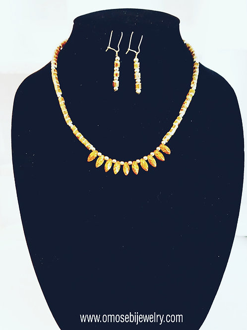 """Praline"" Necklace & Earring Set"