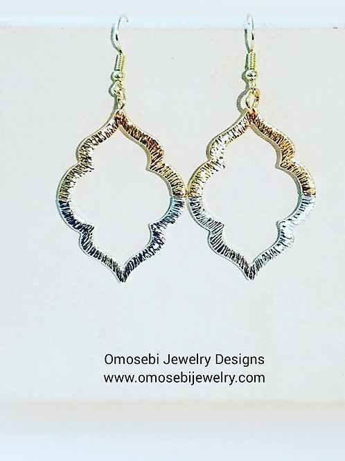 Gold & Siver Plated Riveted Earrings