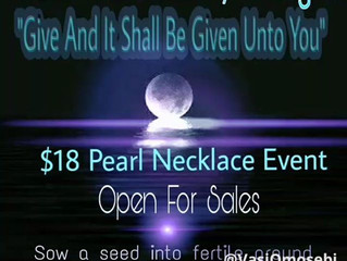 "$18 Pearl Necklace Event ""Give And It Shall Be Given Unto You"""