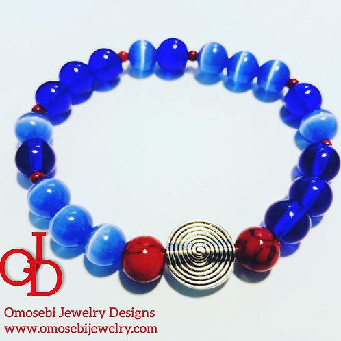 Blue Cats Eye Stone Bracelet