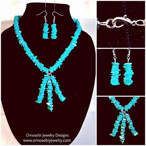 """""""Shella"""" Necklace & Earring Set"""