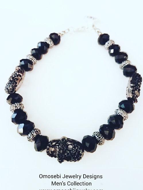 Men's Bling Skull Bracelet (Lg)