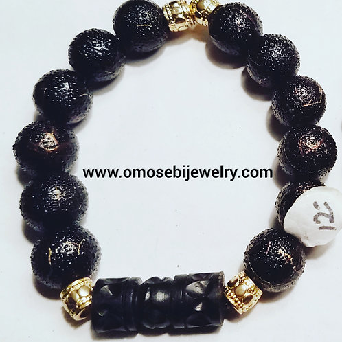 Black & Gold Men's Bracelet *Special*
