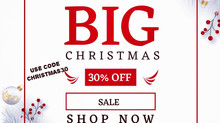 30% Off Big Christmas Sale