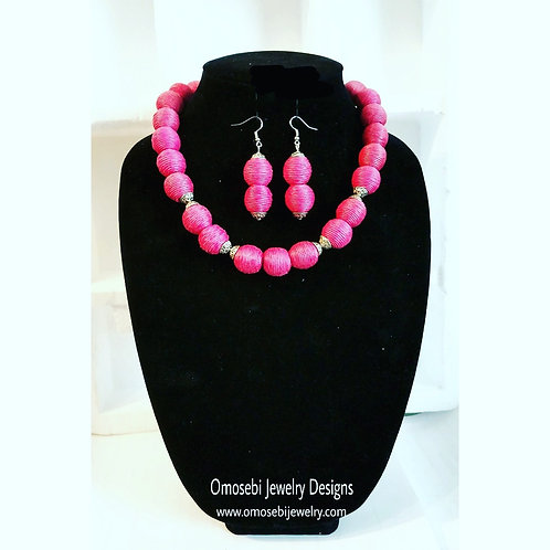 """Blush"" Necklace, Bracelet & Earring Set"
