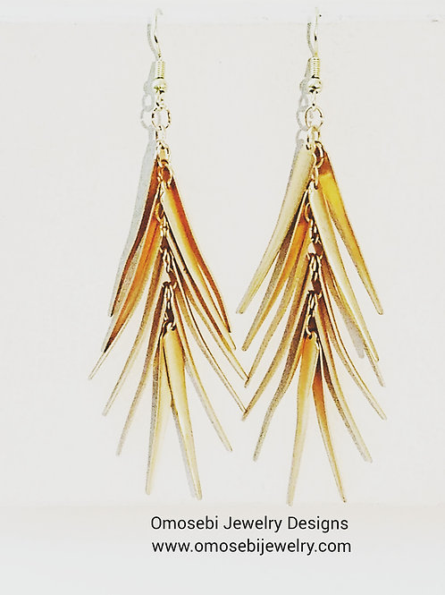 Soft Gold Plated Metal Earrings