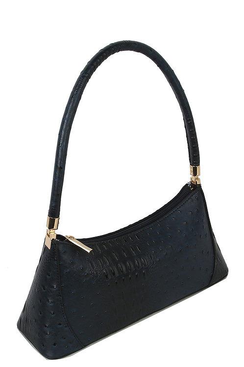 Ostrich Croc Classic Shoulder Bag