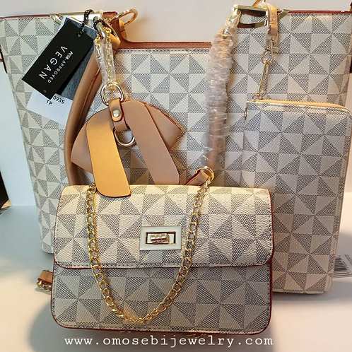 3 in 1 Checked Handbag