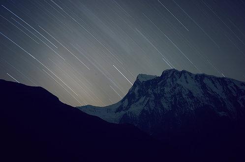 NIGHT EXPOSURE - ANNAPURNA III (7555m)