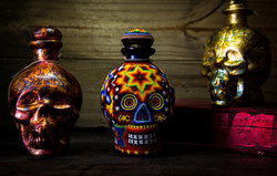 Botellas calavera