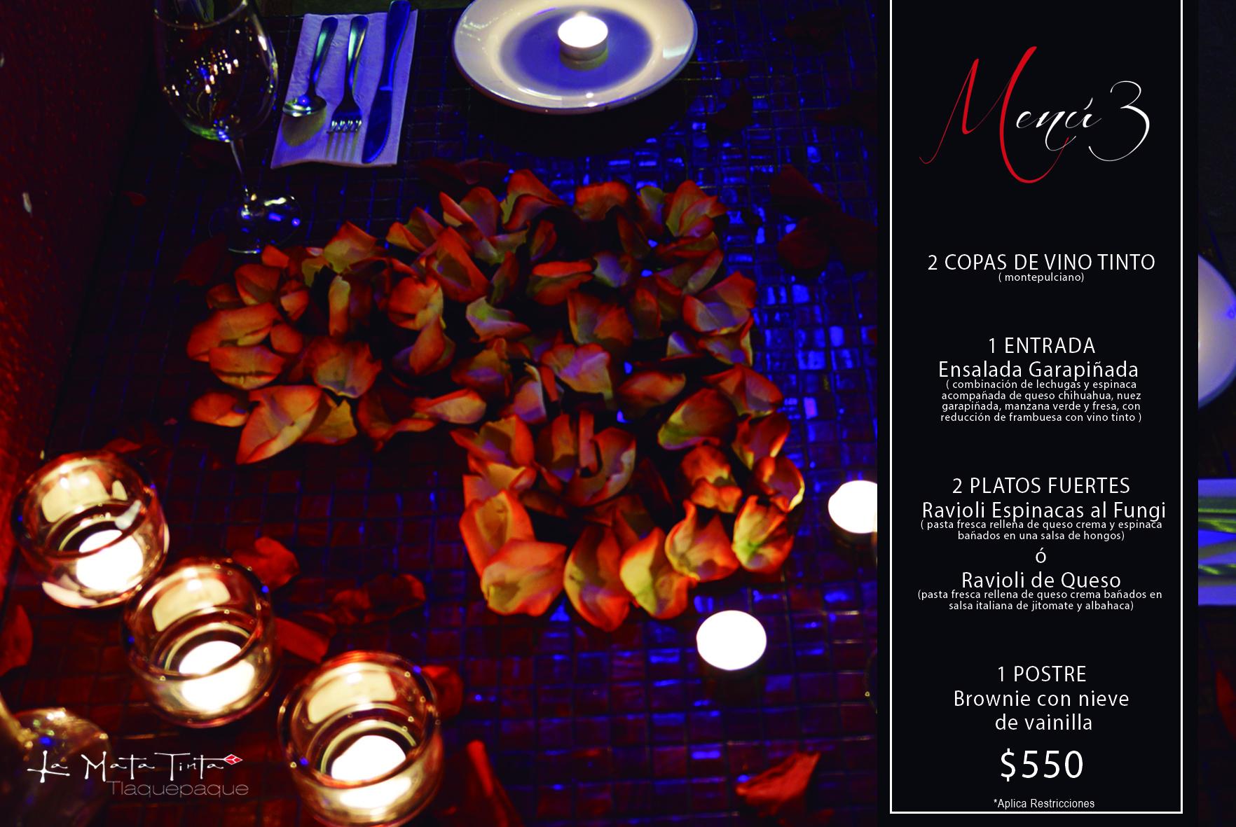 la mata tinta menu romantico 003