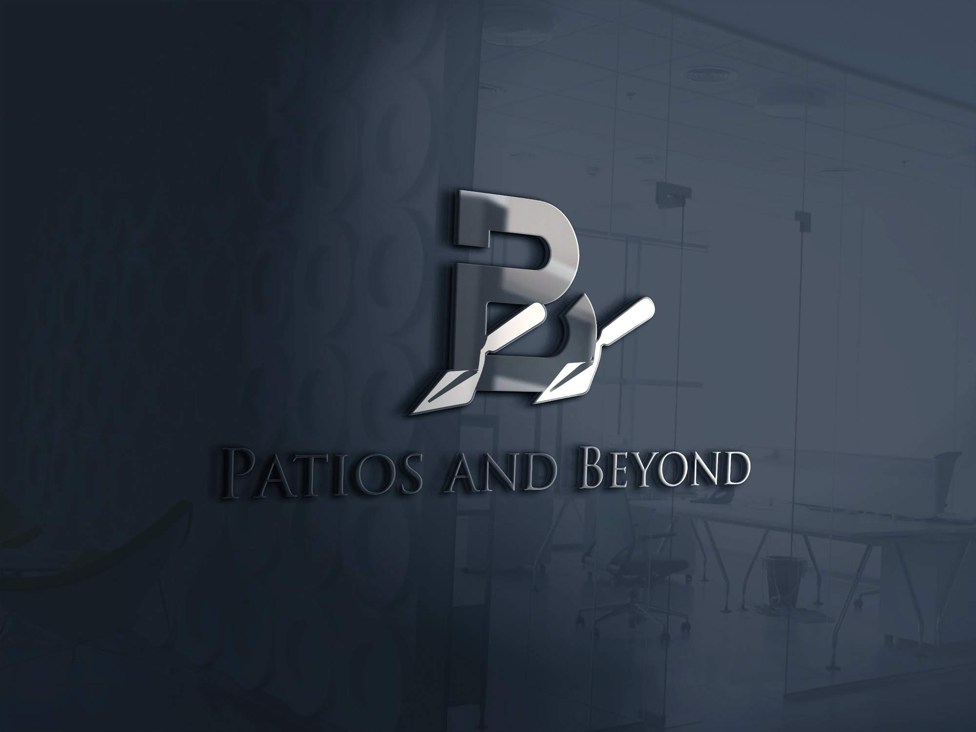 Patios & Beyond 3D Logo